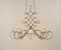 Currey & Company Regiment 6 Light Chandelier in Antique Silver Leaf 9964