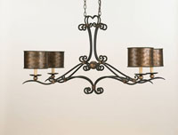 Currey & Company Veneta 4 Light Chandelier in Old Iron/ Cupertino 9965