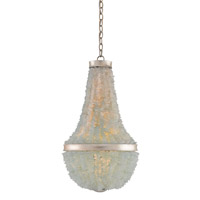 Platea 3 Light 17 inch Contemporary Silver Leaf Chandelier Ceiling Light