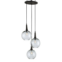 Currey & Company Beckett Trio 3 Light Pendant in Shirley Rust 9969