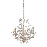 Crystal Bud 3 Light 18 inch Silver Granello Chandelier Ceiling Light