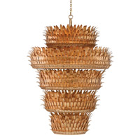 Havana Grande 58 inch Contemporary Gold Leaf Chandelier Ceiling Light