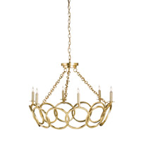 Orli 6 Light 32 inch Contemporary Gold Leaf Chandelier Ceiling Light