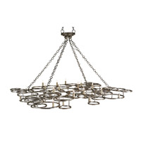 Currey & Company Catalyst 24 Light Chandelier in Annato Antique Silver 9988