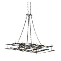 Currey & Company Caledonia 14 Light Chandelier in Old Iron 9989