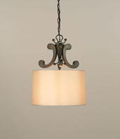 Currey & Company Oberon 1 Light Pendant in Bronze Verdigris 9990