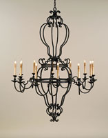 Currey & Company Phantom 12 Light Chandelier in Mole Black 9991