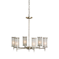 Currey & Company Xander 6 Light Chandelier in Annato Antique Silver 9992