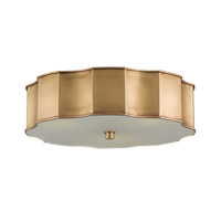 Wexford 3 Light 19 inch Antique Brass Flush Mount Ceiling Light