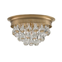 Currey & Company Worthing 1 Light Flush Mount in Antique Brass 9999-0002