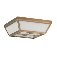 Currey & Company Widdicombe 2 Light Flush Mount in Antique Brass 9999-0003