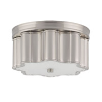 Currey & Company Womble 2 Light Flush Mount in Satin Nickel 9999-0006