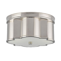 Currey & Company Wicklow 2 Light Flush Mount in Polished Nickel 9999-0007