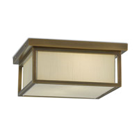 Hanover 2 Light 14 inch Antique Brass Flush Mount Ceiling Light