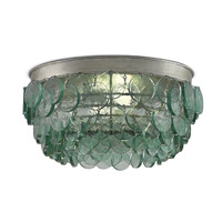 Currey & Company 9999-0013 Braithwell 2 Light 16 inch Silver Leaf Flush Mount Ceiling Light