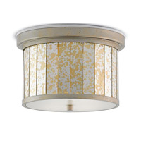 Pavlova 2 Light 13 inch Painted Silver Granello / Gold Leaf Flush Mount Ceiling Light