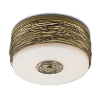 Bosworth 2 Light 16 inch Gold Leaf and White Semi-Flush Mount Ceiling Light