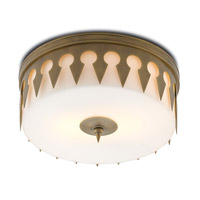 Keyhole LED 16 inch Antique Brass Flush Mount Ceiling Light