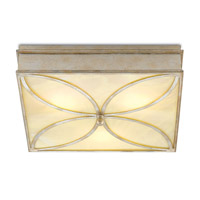 Currey & Company 9999-0026 Beeleigh LED 21 inch Silver Granello and Alabaster Flush Mount Ceiling Light