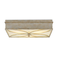 Beeleigh LED 21 inch Silver Granello and Alabaster Flush Mount Ceiling Light
