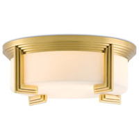 Currey & Company 9999-0035 Brendan 3 Light 17 inch Antique Brass Flush Mount Ceiling Light