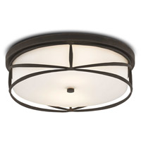 Currey & Company 9999-0037 Lambert 2 Light 19 inch Blacksmith Flush Mount Ceiling Light