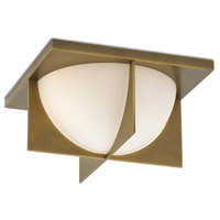 Currey & Company 9999-0039 Lucas 2 Light 17 inch Antique Brass Flush Mount Ceiling Light