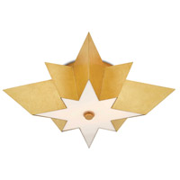 Currey & Company 9999-0041 Leo 2 Light 25 inch Contemporary Gold Leaf Flush Mount Ceiling Light