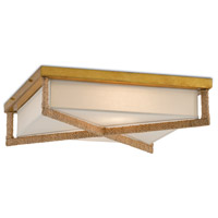 Currey & Company 9999-0043 Connor 2 Light 20 inch Natural and Dark Contemporary Gold Leaf Flush Mount Ceiling Light