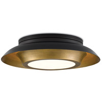 Currey & Company 9999-0045 Metaphor 3 Light 20 inch Painted Antique Brass and Painted Black Flush Mount Ceiling Light