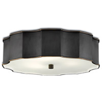Currey & Company 9999-0046 Wexford 3 Light 20 inch Oil Rubbed Bronze Flush Mount Ceiling Light