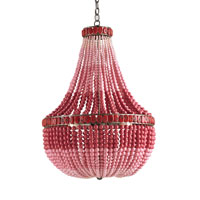 Currey & Company Flamingo 3 Light Chandelier in Pyrite Bronze/Pink 9999