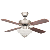 Heritage Square 42 inch Satin Nickel Ceiling Fan, Bowl