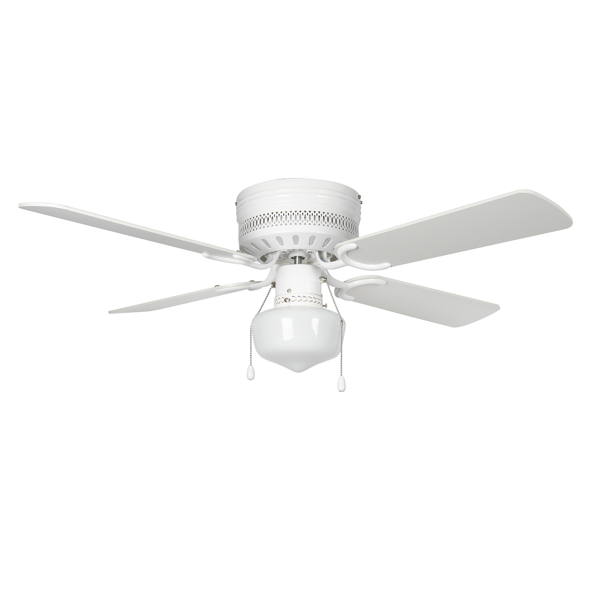 Concord 42hug4wh Yg6 Mb Led Hugger 42 Inch White With White Natural Oak Blades Indoor Ceiling Fan