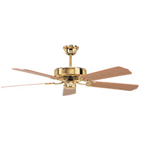California Home 52 inch Polished Brass Ceiling Fan