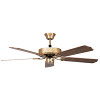CALIFORNIA ANTIQUE BRASS FAN in 52