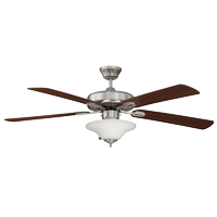 Concord 52HD5ST-ES-LED Heritage Design 52 inch Stainless Steel with Rosewood/Dark Walnut Blades Ceiling Fan
