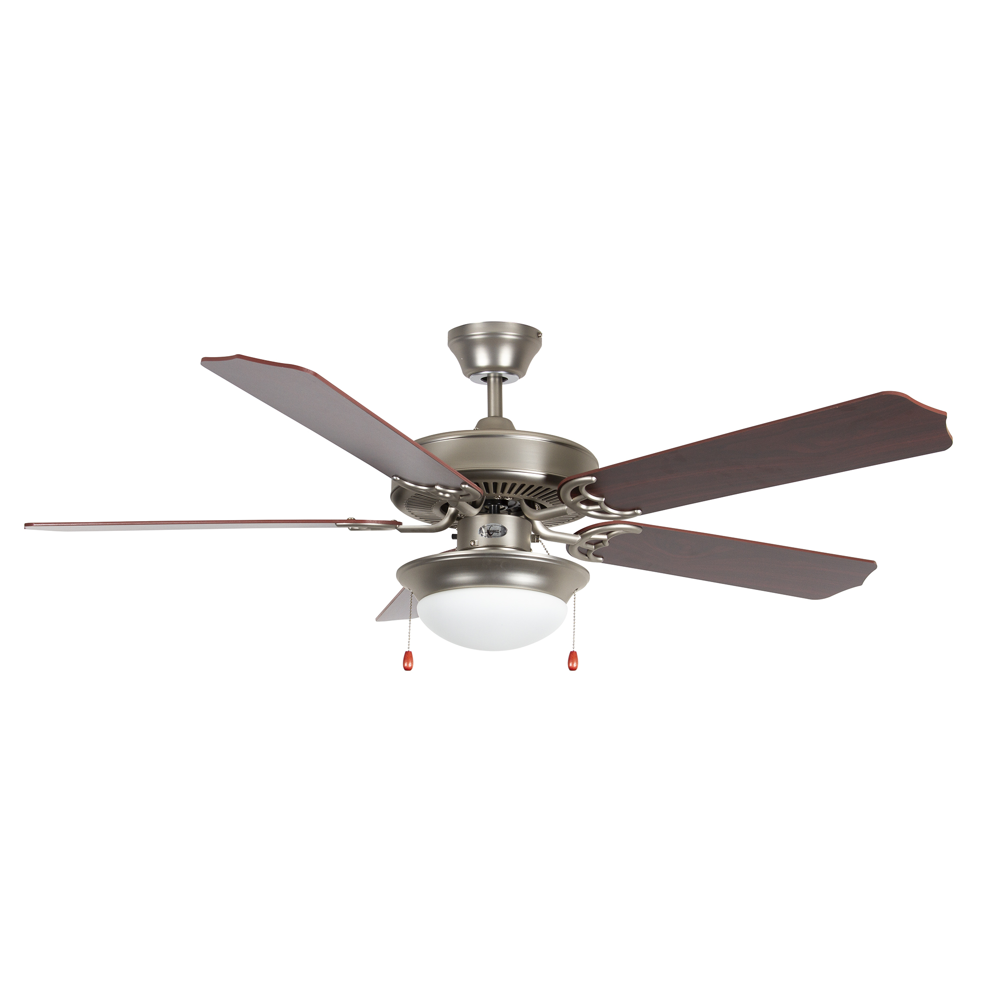Concord 52HEF5SN-ES-LED Heritage Fusion 52 inch Satin Nickel with Rosewood/Black Forest Blades Indoor Ceiling Fan