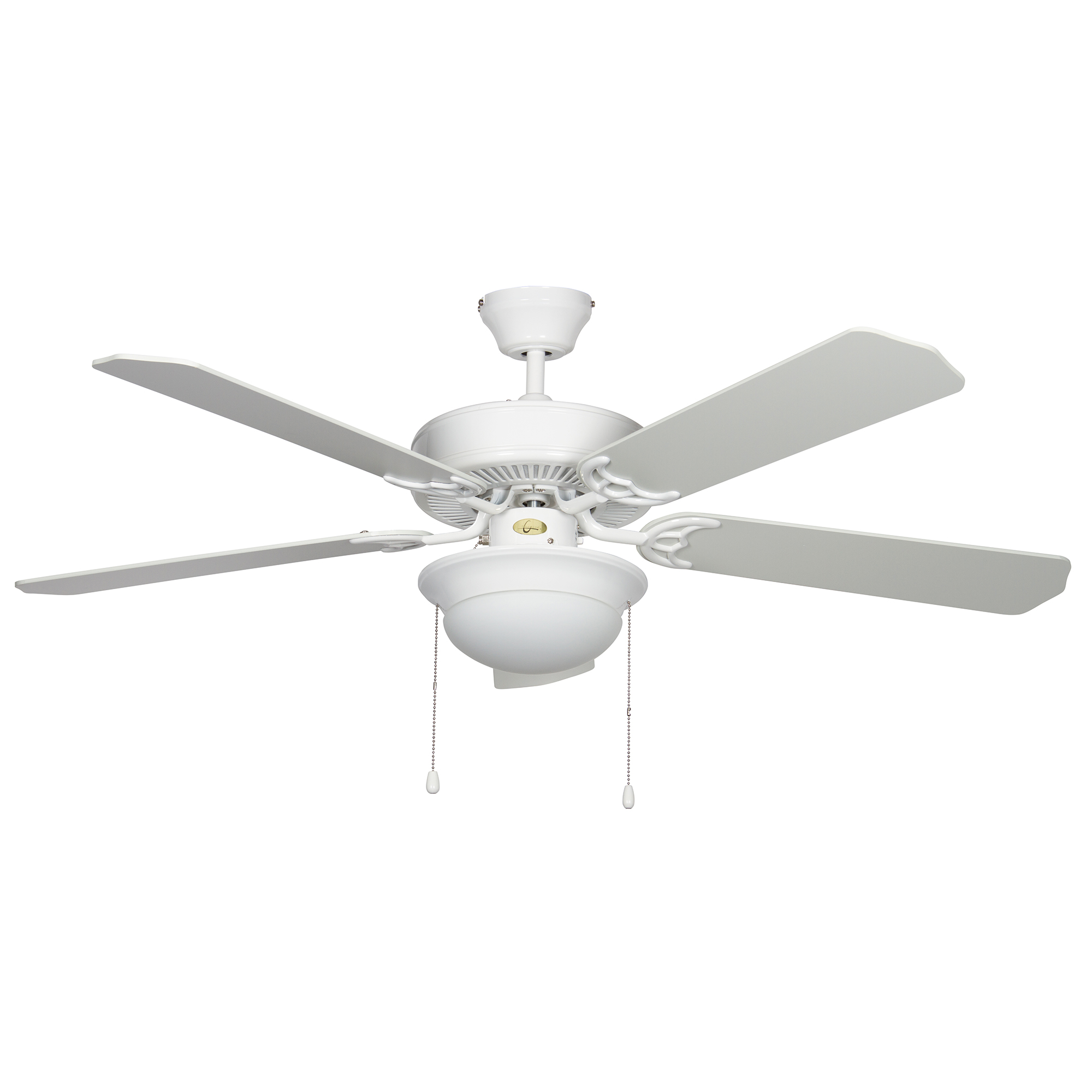 Concord 52HEF5WH-MB-LED Heritage Fusion 52 inch White Indoor Ceiling Fan