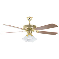 Heritage Home 52 inch Polished Brass Ceiling Fan
