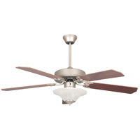 Heritage square 52 inch Satin Nickel Ceiling Fan, Bowl