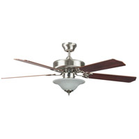 Heritage Square 52 inch Stainless Steel Ceiling Fan, Bowl