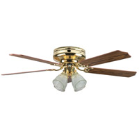 Montego Bay Deluxe 52 inch Polished Brass Ceiling Fan, Deluxe