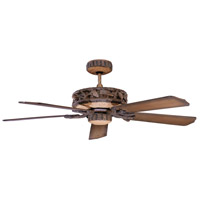Ponderosa 52 inch Old World Leather Ceiling Fan