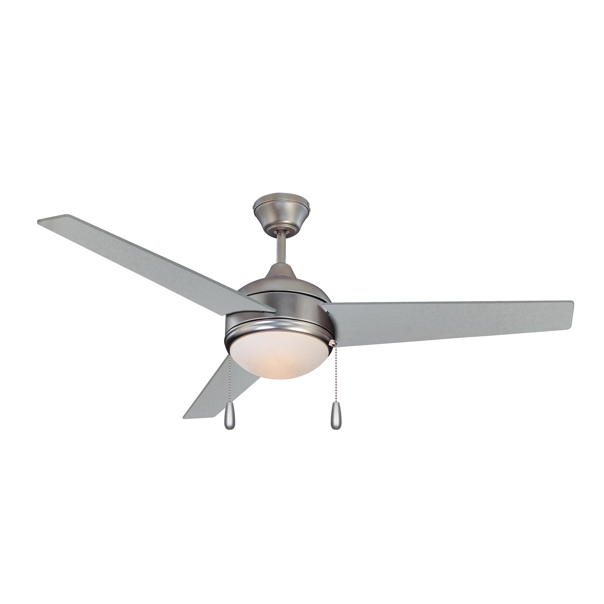Concord 52SKY3SN-PCHN-ES-LED Skylark 52 inch Satin Nickel with Chrome Blades Indoor Ceiling Fan