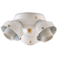 Concord Y-306CG-S-WH Turtle Contractor 3 Light Fluorescent White Fan Light Kit