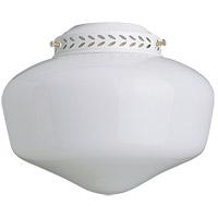 Concord YG-9CG-S-WH Schoolhouse 1 Light CFL White Fan Light Kit