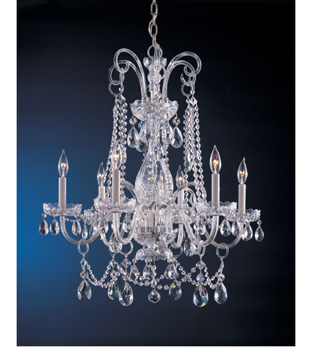Crystorama Traditional Crystal 6 Light Chandelier in Polished Chrome 1030-CH-CL-S photo