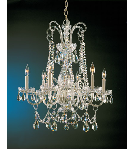 Crystorama Traditional Crystal 6 Light Chandelier in Polished Brass 1030-PB-CL-S photo