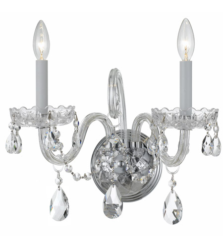 Crystorama Polished Chrome Wall Sconces